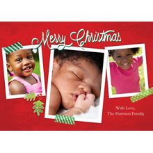 Christmas Photo Cards 5x7 Cards, Premium Cardstock 120lb with Elegant Corners, Card & Stationery -Christmas Collage Tape