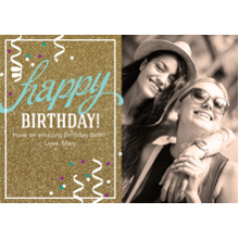 Birthday Greeting Cards 5x7 Cards, Premium Cardstock 120lb, Card & Stationery -Happy Birthday Glitter