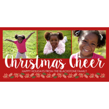 Christmas Photo Cards 4x8 Flat Card Set, 85lb, Card & Stationery -Christmas Cheer Script