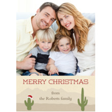 Christmas Photo Cards 5x7 Cards, Premium Cardstock 120lb with Elegant Corners, Card & Stationery -Holiday Cactus