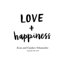 Non Photo Canvas Print, 8x10, Home Decor -Love Happiness