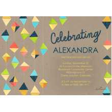 Birthday Party Invites 5x7 Cards, Premium Cardstock 120lb with Elegant Corners, Card & Stationery -Celebrate Hanging Triangles