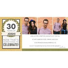 Birthday Party Invites 4x8 Flat Card Set, 85lb, Card & Stationery -Something to Celebrate Photo