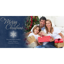 Christmas Photo Cards 4x8 Flat Card Set, 85lb, Card & Stationery -Merry Christmas Snowflake