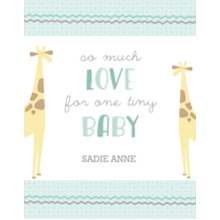 Baby + Kids 11x14 Poster, Home Decor -Menagerie