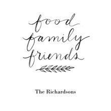 Non-Photo 16x20 Poster, Home Decor -Food Family Friends