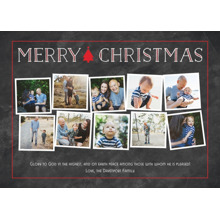 Christmas Photo Cards 5x7 Cards, Premium Cardstock 120lb with Rounded Corners, Card & Stationery -Simple Christmas Tidings