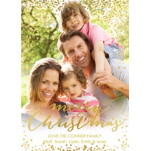 Christmas Photo Cards 5x7 Cards, Premium Cardstock 120lb with Rounded Corners, Card & Stationery -Illustrious Christmas