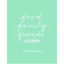 Non-Photo 11x14 Poster, Home Decor -Food Family Friends