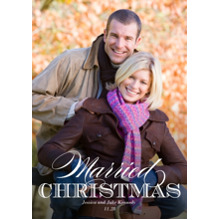Christmas Photo Cards 5x7 Cards, Premium Cardstock 120lb with Elegant Corners, Card & Stationery -Elegant Married Christmas