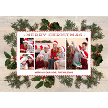 Christmas Photo Cards 5x7 Cards, Premium Cardstock 120lb with Elegant Corners, Card & Stationery -Real Foliage by Foto Crush