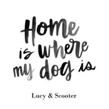 Non-Photo Wood Hanger Board Print, 11x14, Home Decor -Home Dog