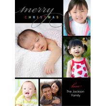 Christmas Photo Cards 5x7 Cards, Premium Cardstock 120lb with Elegant Corners, Card & Stationery -Posh Paper Merry Moods