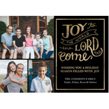 Christmas Photo Cards 5x7 Cards, Premium Cardstock 120lb with Rounded Corners, Card & Stationery -Christmas Joy to the World