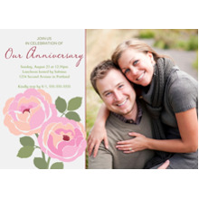 Anniversary Invitations Flat Matte Photo Paper Cards with Envelopes, 5x7, Card & Stationery -Our Anniversary