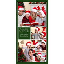 Christmas Photo Cards 4x8 Flat Card Set, 85lb, Card & Stationery -Collage Season's Greetings