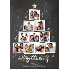 Christmas Photo Cards 5x7 Cards, Premium Cardstock 120lb with Elegant Corners, Card & Stationery -Christmas Tree Snapshots