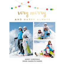 Christmas Photo Cards 5x7 Cards, Premium Cardstock 120lb with Rounded Corners, Card & Stationery -Light The Way by Foto Crush