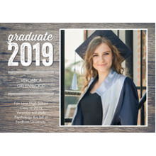 2019 Graduation Announcements 5x7 Cards, Premium Cardstock 120lb with Rounded Corners, Card & Stationery -Graduate 2019 Modern by Tumbalina