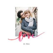 Love Framed Canvas Print, Black, 20x30, Home Decor -Love Watercolors