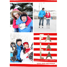 Christmas Photo Cards 5x7 Cards, Premium Cardstock 120lb with Elegant Corners, Card & Stationery -FaLaLa