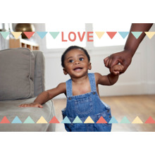 Love Framed Canvas Print, Black, 20x30, Home Decor -Love Pennants