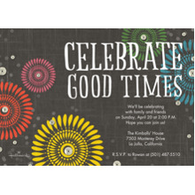 Birthday Party Invites 5x7 Cards, Premium Cardstock 120lb with Rounded Corners, Card & Stationery -Celebrate Good Times