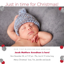 Christmas Photo Cards 5x5 Flat Card Set, 85lb, Card & Stationery -Just Made It!