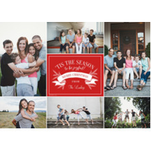 Christmas Photo Cards 5x7 Cards, Premium Cardstock 120lb with Elegant Corners, Card & Stationery -Season to Be Joyful