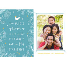 Christmas Photo Cards 5x7 Cards, Premium Cardstock 120lb with Elegant Corners, Card & Stationery -Gift of his Presence