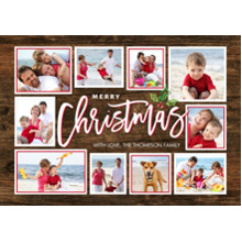 Christmas Photo Cards 5x7 Cards, Premium Cardstock 120lb with Scalloped Corners, Card & Stationery -Christmas Gold Handwritten