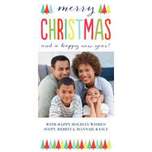 Christmas Photo Cards 4x8 Flat Card Set, 85lb, Card & Stationery -Festive Forest of Trees