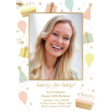 Birthday Party Invites 5x7 Cards, Premium Cardstock 120lb with Elegant Corners, Card & Stationery -Party Favor