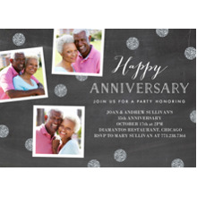Anniversary Invitations 5x7 Cards, Premium Cardstock 120lb, Card & Stationery -Anninversary Party Snapshots