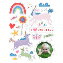 Baby + Kids 11x14 Peel, Stick & Reuse, Home Decor -I Love Unicorns