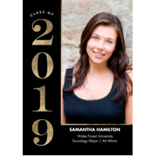 2019 Graduation Announcements 5x7 Cards, Premium Cardstock 120lb with Scalloped Corners, Card & Stationery -2019 Grad Modern by Tumbalina