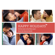 Christmas Photo Cards 5x7 Cards, Premium Cardstock 120lb with Rounded Corners, Card & Stationery -Multi-Photo Happy Holidays
