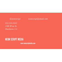 Arts & Media 2x3.5 Business Cards - Double Sided , Card & Stationery -Neon Script