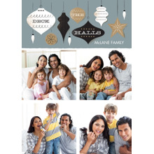 Christmas Photo Cards 5x7 Cards, Premium Cardstock 120lb with Elegant Corners, Card & Stationery -Holiday Trimmings