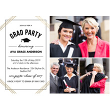 2019 Graduation Announcements 5x7 Cards, Premium Cardstock 120lb with Rounded Corners, Card & Stationery -Grad Party Lines