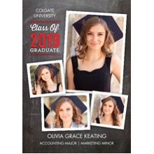 2019 Graduation Announcements 5x7 Cards, Premium Cardstock 120lb with Rounded Corners, Card & Stationery -Grad Class of 2019 Collage by Tumbalina