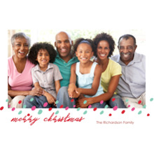 Christmas Photo Cards 5x7 Cards, Premium Cardstock 120lb with Rounded Corners, Card & Stationery -Christmas Sprinkles