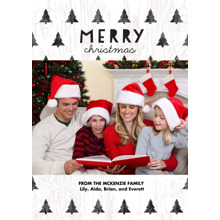 Christmas 5x7 Folded Cards, Standard Cardstock 85lb, Card & Stationery -Forest of Christmas Trees