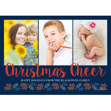 Christmas Photo Cards 5x7 Cards, Premium Cardstock 120lb with Rounded Corners, Card & Stationery -Christmas Cheer Script
