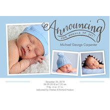 Baby Announcements 5x7 Cards, Premium Cardstock 120lb, Card & Stationery -Baby Bundle of Joy
