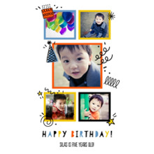 Birthday 24x36 Poster , Home Decor -Birthday Doodles