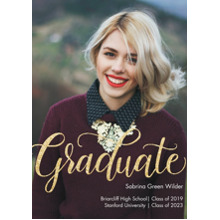 2019 Graduation Announcements 5x7 Cards, Premium Cardstock 120lb with Rounded Corners, Card & Stationery -Graduate Glitter by Tumbalina