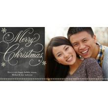 Christmas Photo Cards 4x8 Flat Card Set, 85lb, Card & Stationery -Chalkboard Merry Christmas