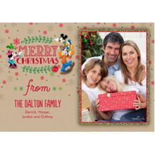 Christmas Photo Cards 5x7 Cards, Premium Cardstock 120lb with Rounded Corners, Card & Stationery -Disney Merry Christmas