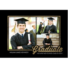 2019 Graduation Announcements 5x7 Cards, Premium Cardstock 120lb with Rounded Corners, Card & Stationery -Graduate 2019 Retro by Tumbalina